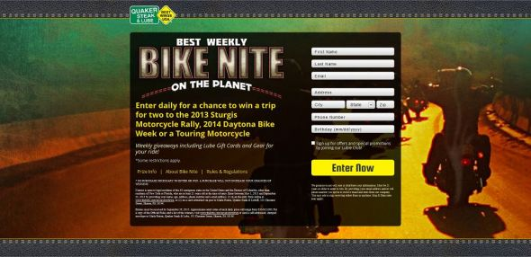 Quaker Steak & Lube Never Slow Down Ultimate Rider Giveaway