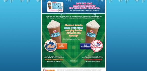 DD's Beat The Heat Instant Win Game & Sweepstakes