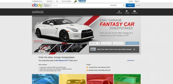 eBay Garage Fantasy Car Sweepstakes