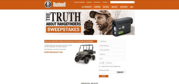 Bushnell The Truth About Rangefinder Sweepstakes