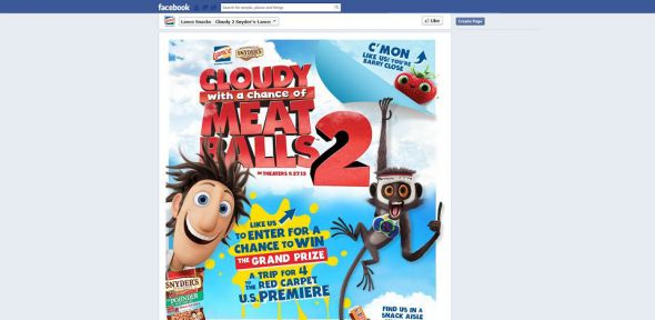 Cloudy2SnydersLance.com – Snyder's-Lance Cloudy with a Chance of Meatballs 2 Sweepstakes