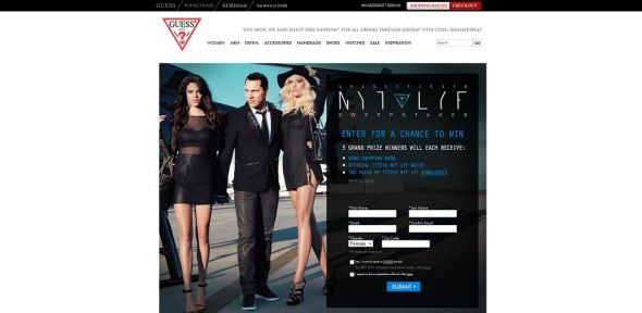 GUESS Tiësto Nyt Lyf Collection Sweepstakes