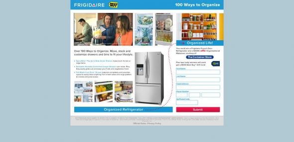 Frigidaire Gallery French Door Refrigerator Sweepstakes