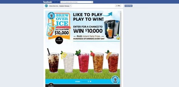 facebook.com/brewoverice – Brew Over Ice Instant Win Game and Sweepstakes