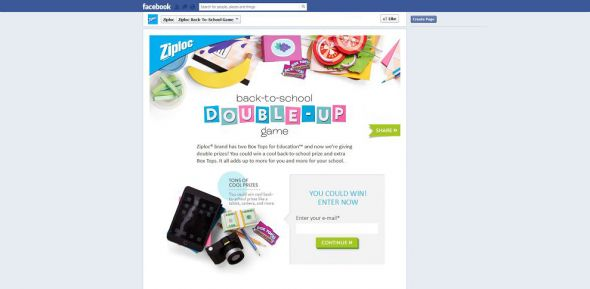 ZiplocBackToSchool.com – Ziploc Back To School Instant-Win Game