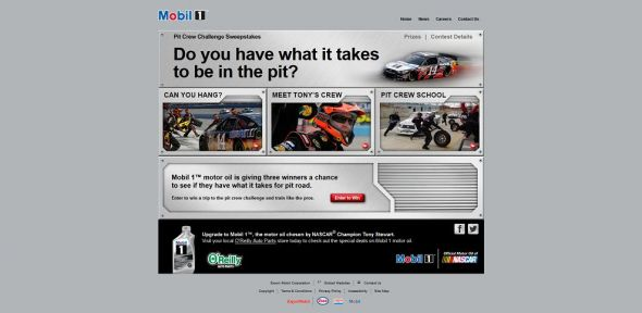 Mobil 1 Pit Crew Challenge Sweepstakes