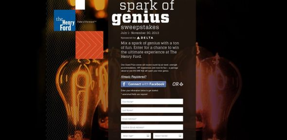 Henry Ford Spark of Genius Sweepstakes