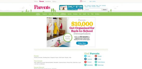parents.com/WinOrganize – $10,000 Organize Your Space Sweepstakes