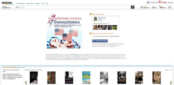 Amazon.com Happy Birthday, America Sweepstakes