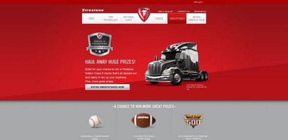 Drive A Firestone Sweepstakes