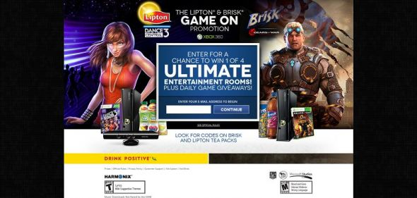 gameonpromo.com – Lipton Iced Tea Dance Central 3 and Brisk Gears of War: Judgment Instant Win Game and Sweepstakes