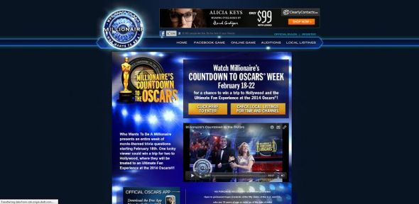 millionairetv.com – Who Wants To Be A Millionaire Countdown To The Oscars Sweepstakes