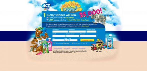 actsweeps.com – ACT KIDS Swish 'n Splash Sweepstakes