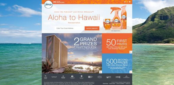 Febreze and Hilton HHonors Aloha to Hawaii Sweepstakes
