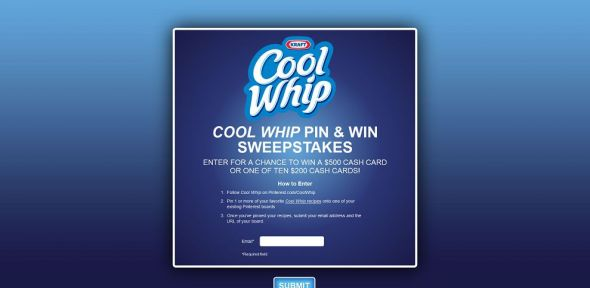Cool Whip Pin & Win Sweepstakes