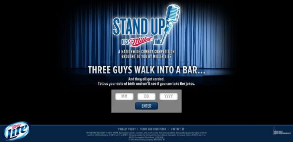 standupitsmillertime.com – Miller Lite Stand Up It's Miller Time Sweepstakes