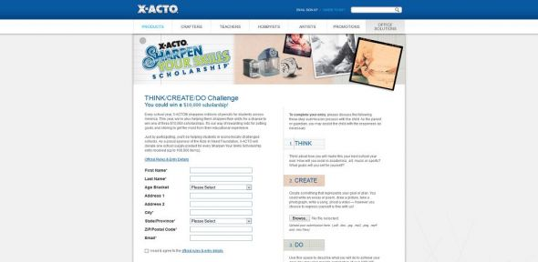 X-ACTO Sharpen Your Skills Scholarship Sweepstakes