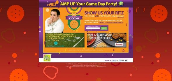 RitzKickOff.com – Ritz Kick Up the Kick Off Recipe Contest