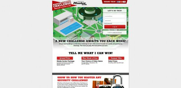 Master Lock MASTER CAMPUS CHALLENGE Sweepstakes, Instant Win, and Photo Contest