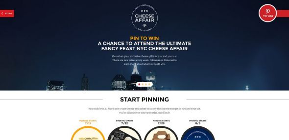 Cheese Affair Pin to Win Sweepstakes
