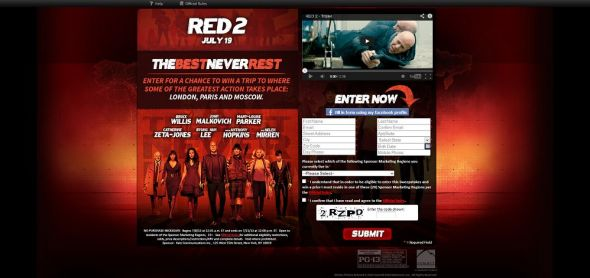 Red 2 – Never Rest Sweepstakes