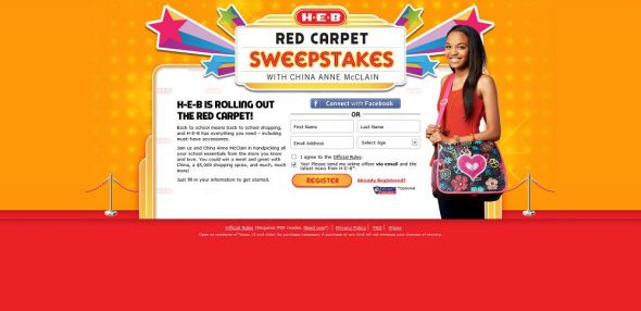 H-E-B Red Carpet Sweepstakes