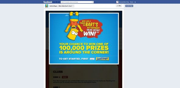 bartsbutterfinger.com – Who Laid a Finger on Bart's Butterfinger Instant Win Game and Sweepstakes