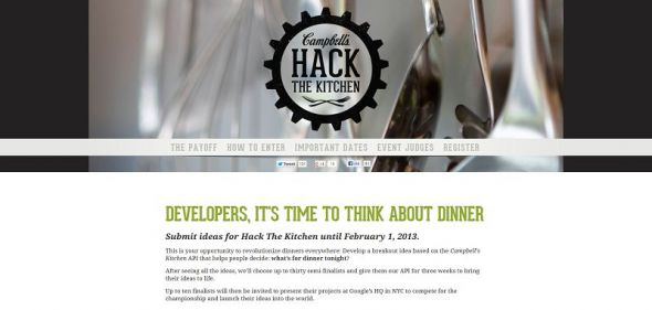 Campbell Soup Company Hack The Kitchen Competition