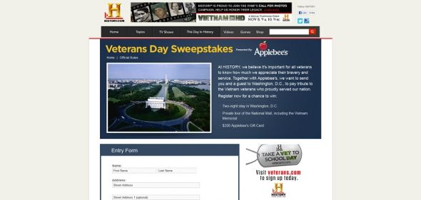 Veterans Day Sweepstakes