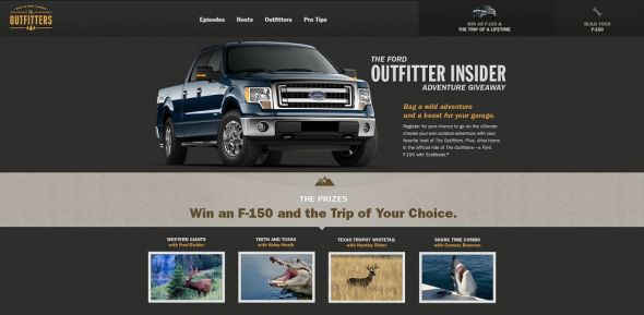 Ford Outfitter's Insider Adventure Sweepstakes