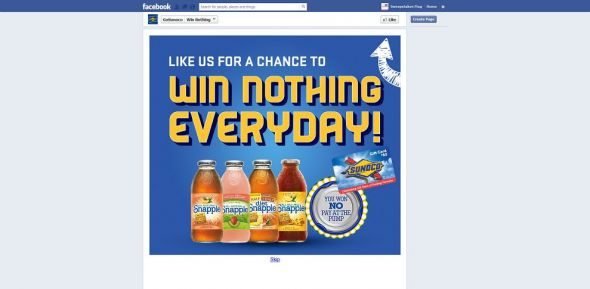 Snapple's Win Nothing Daily Draw Sweepstakes