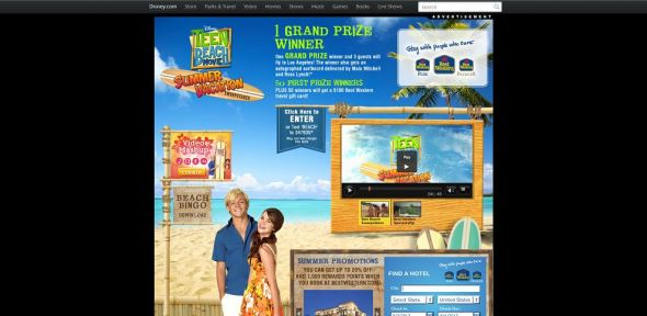 www.disneychannel.com/beach – Disney Teen Beach Movie Summer Vacation Sweepstakes