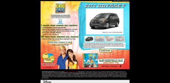 www.DisneyChannel.com/SummerSweeps – Disney Teen Beach Movie Spectacular Summer Sweepstakes