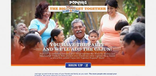 Popeyes Cajun Surf &amp; Turf Promotion