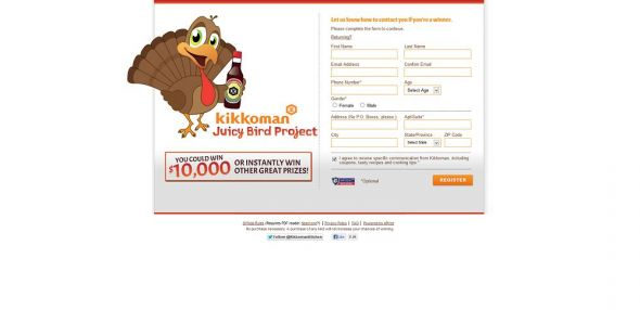 Kikkoman Juicy Bird Sweepstakes