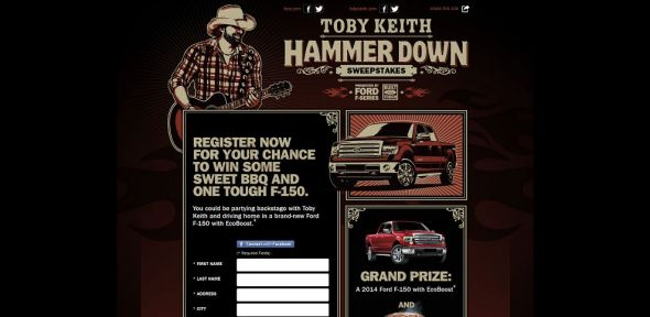 Toby Keith Hammer Down Tour Sweepstakes