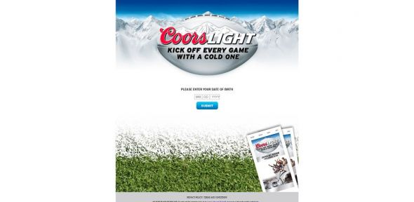 coorslight.com/Kickoff – Coors Light Silver Seats Football 2013 Sweepstakes