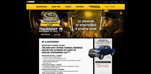 nascar.com/contenderslive – Chase for the NASCAR Sprint Cup Contenders Live 2013 Sweepstakes