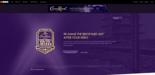 2013 Crown Royal Your Hero's Name Here Contest