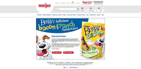 Beggin' Collisions Bacon & Ranch Sweepstakes