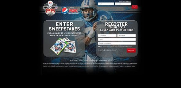 PepsiMAX.com/MaddenLegends – Pepsi Max Madden Legends Sweepstakes