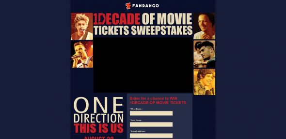 Fandango's One Direction: This Is Us Sweepstakes