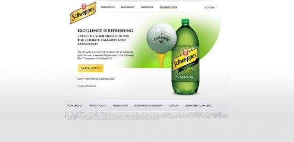 Schweppes Callaway Golf Sweepstakes