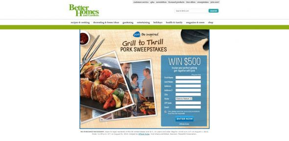 Grill to Thrill Pork Sweepstakes