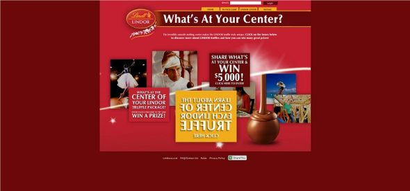 Lindor Truffles What's At Your Center? Instant Win Game