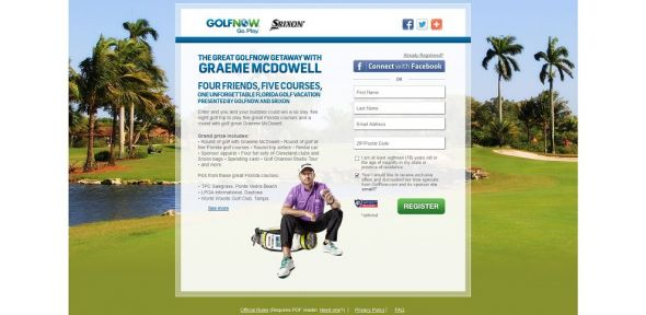 Great GolfNow Getaway With Graeme McDowell Promotion