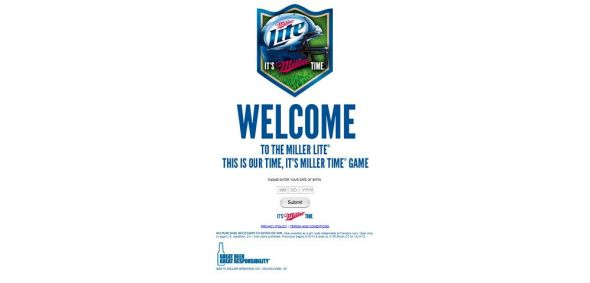 millerlite.com/football – Miller Lite This is Our Time, It's Miller Time Promotion