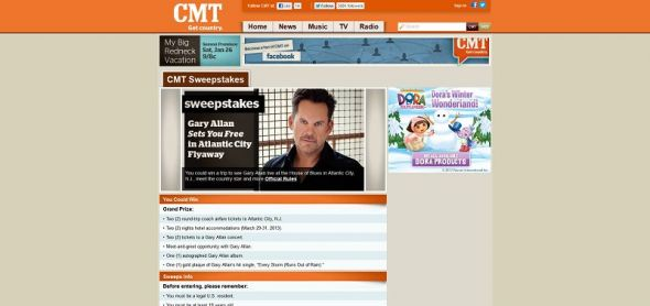 Gary Allan SETS YOU FREE in Atlantic City Flyaway Sweepstakes