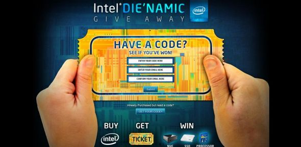 intelgamingpromo.com – Intel Die'namic Ticket Instant Win Sweepstakes