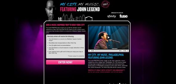 Xfinity My City, My Music, Philadelphia VIP Experience Sweepstakes